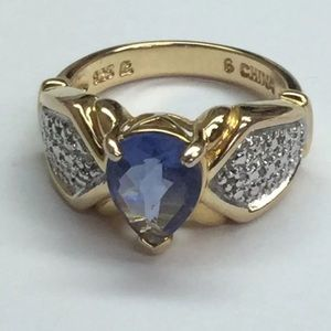 Jewelry - Genuine Blue Sapphire Ring Sterling Silver Women 6